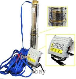 1.5HP 110V Deep Bore Stainless Submersible Well Water Pump 30GPM with Control Box
