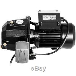 1 HP Shallow or Deep Well Jet Pump with Pressure Switch Homes Supply Water 183.7FT