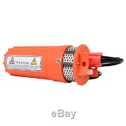12V 360LPH 70M Lift Small Submersible Power Solar Water Pump Outdoor Deep Well