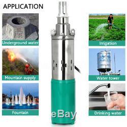 180W 12V 45M Lift High Powered Submersible Water Pump Flow 6M³/H Deep Well Pump