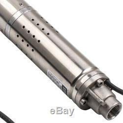 2 0.5HP 50m 370W Deep Well Pump Pompa Sommersa 0.5HP Elettropompa acciaio inox