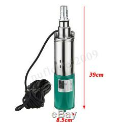 220W 12V 1.2m³ 15m Electric Solar Farm Submersible Deep Well Water