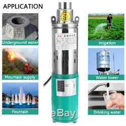 220W DC 12V 30M Lift Deep Well Pump Submersible Water Pump For Solar System Farm