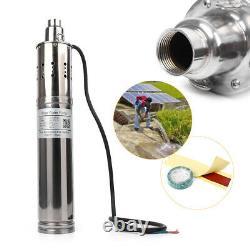 24V 120M Deep Well Solar Submersible Water Pump Stainless Steel 18v-45v