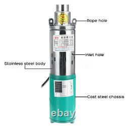 24V 260W Lift Max 1.2M³/H Submersible Water Pump Deep Well Pump For Solar System