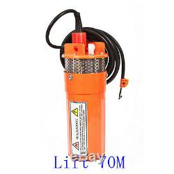 24V 360LPH 70M Lift Small Submersible Power Solar Water Pump Outdoor Deep Well