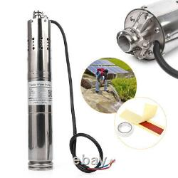 24V/36V DC 2m³/H 60m Solar Powered Water Pump Submersible Deep Well Brushless
