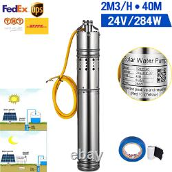24V Solar Photovaltaic Powered Water Pump 284W 2m3/h 40M Deep Well Submersible