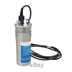 24V Solar Submersible Deep Well DC Water Pump Stainless Steel Farm Irrigation