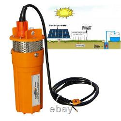 24V Solar Submersible Deep Well Water Pump Alternate Energy Ranch Farm Watering