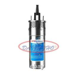 24V Stainless Shell Submersible 3.2GPM 4 Deep Well Water DC Pump