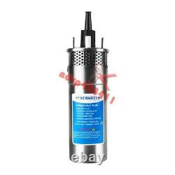 24V Stainless Shell Submersible 3.2GPM 4 Deep Well Water DC Pump /Solar Battery