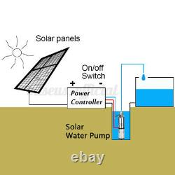 250W 24V Solar 3m³/h Power Water Pump Farm Ranch Submersible Bore Hole Deep Well