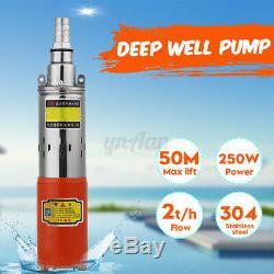 250W DC 12V 30m Lift High Powered Submersible Water Pump Deep Well Pump Farming