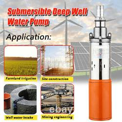 260W 1.2m³ Submersible Solar Water Pump Deep Bore Well Water New