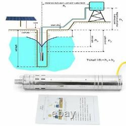 284W 2m3/h 40M Solar Photovaltaic Powered Water Pump 24V Deep Well Submersible