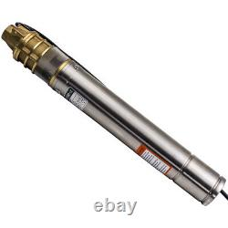 3 0.75KW 2800 L/h Submersible Water Deep Well Borehole Pump Stainless Stee
