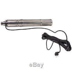3 1020 l/h Pompa Sommersa 250W Elettropompa Acciaio Inox 230V 2,850 rpm 75m