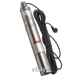 3 17 L/min Borehole Deep Well Submersible Electric Water Pump Stainless Steel