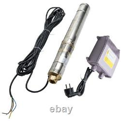 3 370 W Borehole Deep Well Water Submersible Electric Pump + 15m cable New