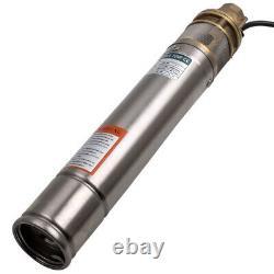 3 540 cm Pompa Sommersa 1HP Elettropompa Acciaio Inox 750W 60m pozzo profondo