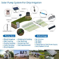 3 DC Deep Well 1HP Solar Water Pump S/S Impeller Submersible with Controller 750W