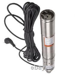 3 Elettropompa pompa sommersa per pozzi da 1020 l/h 250 W 75 m in acciaio inox