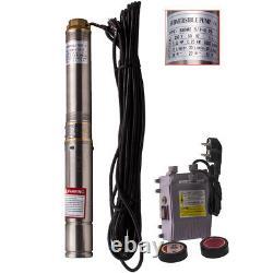 3 Pollici 2500 L/H 250W Elettropompa Pompa Sommersa acciaio inox per Pozzi 230V