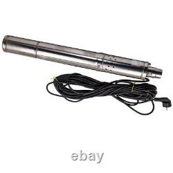3 inch 550W 2100 L/H Deep Well Submersible Borehole Water Pump Stainless Steel