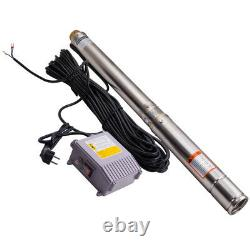 3 inch 750W 3800L/H Submersible Deep Well Borehole Water Pump 30m Cable 8.5 bar
