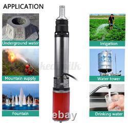 350W 5m³/h Deep Well Water Pump Screw Submersible Pump Pond Irrigation Farm 60V