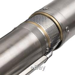 4 0.5HP Pompa Per Pozzi Profondi Pompa Sommersa 6.000 L/H 370W- ACCIAIO INOX