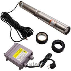 4 1.1KW Borehole Deep Well Water Submersible Electric Pump + 20m Cable Head 54m