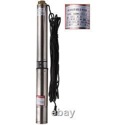 4 102 mm Pompa Sommersa 1.5HP Elettropompa acciaio inox 1000W 102m per Pozzo
