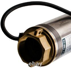 4 1100W Deep Well Submersible Bore Water Pump Stainless Steel + 20m Cable