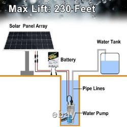 4 12V Solar Deep Well Water Bore Pump Pond/Pool Pump Stainless Steel 70M