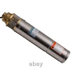 4 1HP 2600L/H Borehole 4 Deep Well Submersible Water Pump + 20m Cable