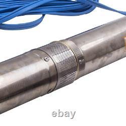 4 750 W Elettropompa Sommersa Pompa Profonda 4000 L/H 1HP Water Pump Deep Well