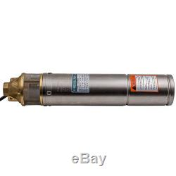 4 Acciaio Inox Profondo Pozzo Pompa Elettropompa Pompa Sommersa 750 W 2600 L/H