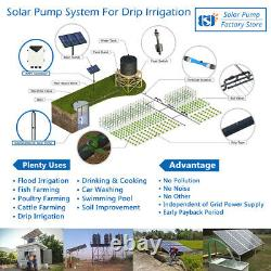4 DC Deep Well Solar Water Pump 110V 1300W Bore Submersible with 71m Max Head