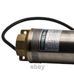 4 Deep Well Submersible Borehole Water Pump 4000L/H 550W Stainless Steel