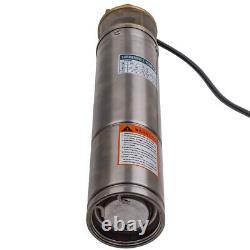 4 Garden Home Pump 750W 2600L/H Borehole Deep Well Submersible Water Pump