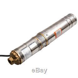 4 Pollici 500W 2800 L/H 8 bar Pompa Sommersa Per Pozzi Elettropompa Acciaio Inox