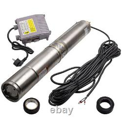 4 inch 370W 55m Borehole Deep Well Submersible Water Stainless Steel 6000L/H