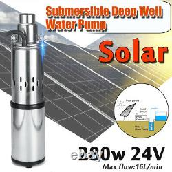 40M 250W 24V 3m³/h Stainless Steel Solar Submersible Water Deep Well Pump