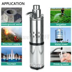 40M 250W 24V 3m³/h Stainless Steel Solar Submersible Water Deep Well Pump Power