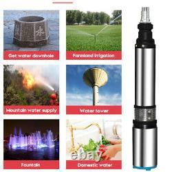 500W 48V/60V High Power 2M³/H Flow Max Lift 50M Deep Well Pump Steel Water Pump