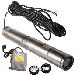6000 l / h 35°C 4 370W Borehole Deep Well Submersible Water Pump 45m / 150ft