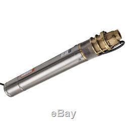 76mm Pompa Sommersa Elettropompa acciaio inox 750W 60 m 2400 L/H Irrigazione