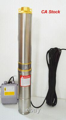 Canada Stock Submersible Deep Well Water Pump with Long 128ft Delivery 110V